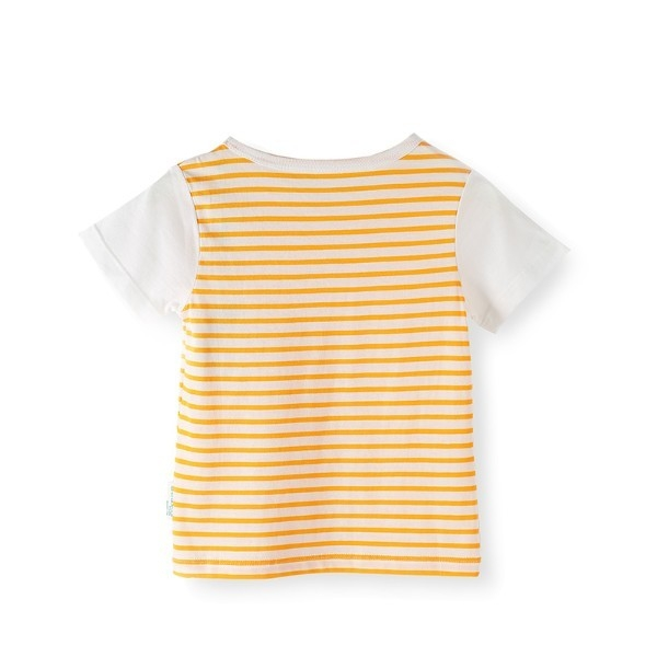 Spring and summer infant knitted short sleeve T-shirt